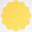 Tondi TNT Smerlati Stampa Fiori giallo