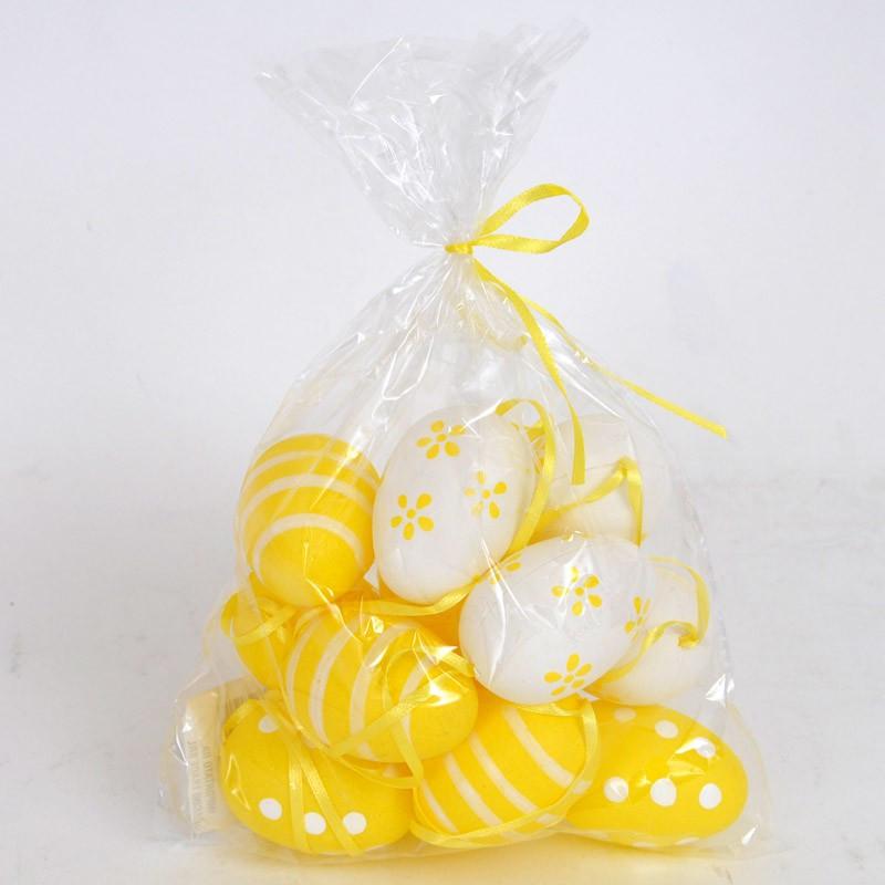 Uova di Pasqua giallo bianco