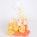 Uova di Pasqua arancio bianco giallo