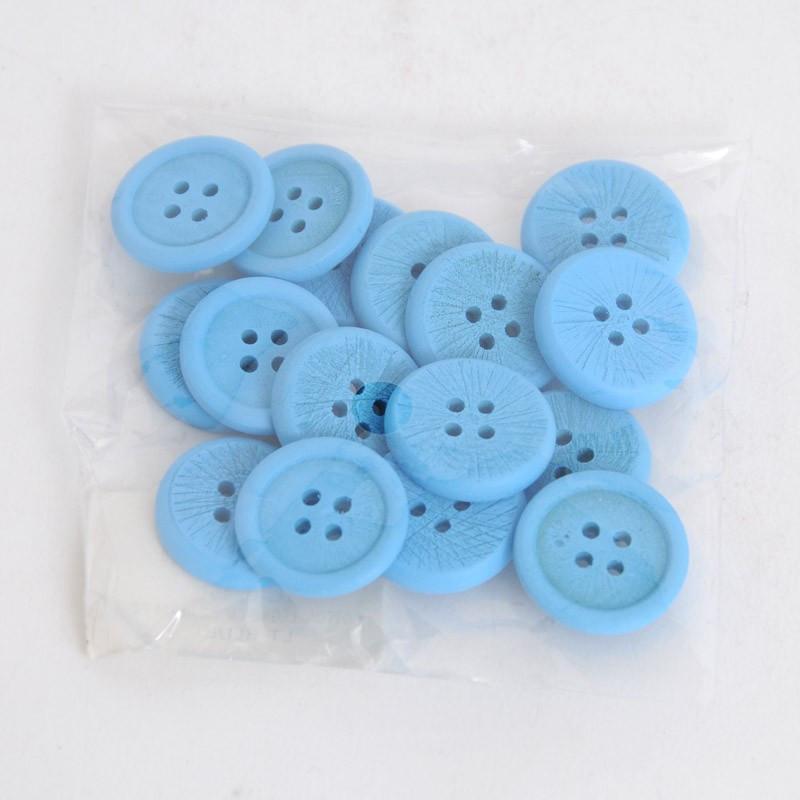 Bottoni di legno Azzurri