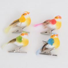 Uccellini con Molletta in Metallo Colori Assortiti