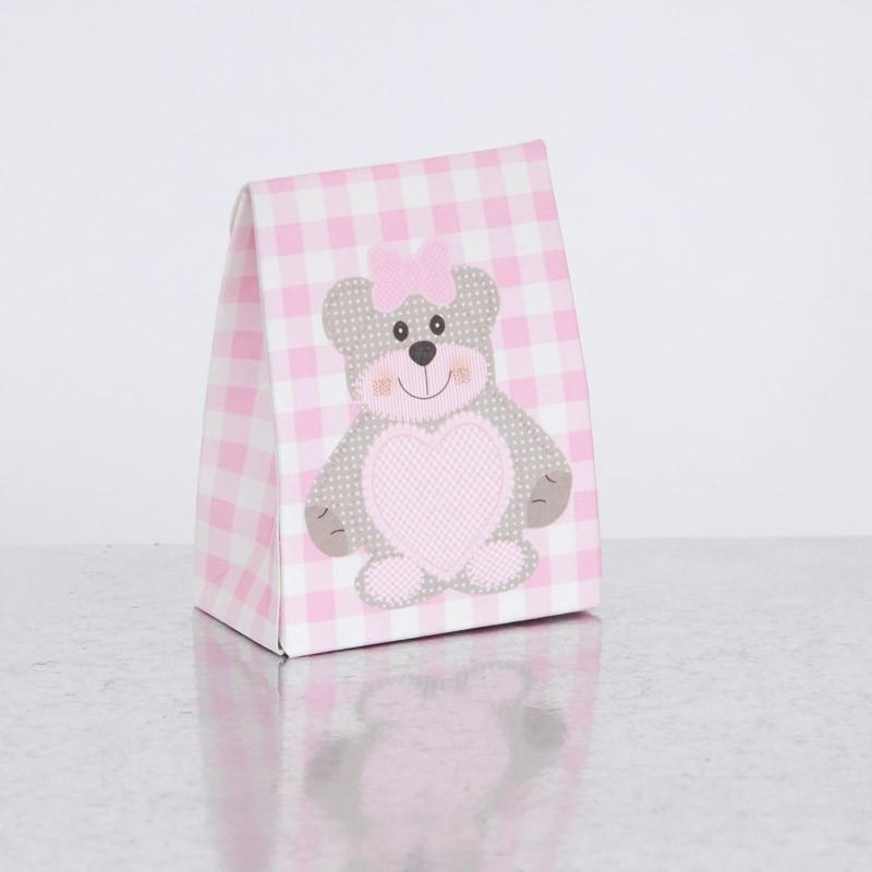 Scatolina con finestra cuore Teddy Bear