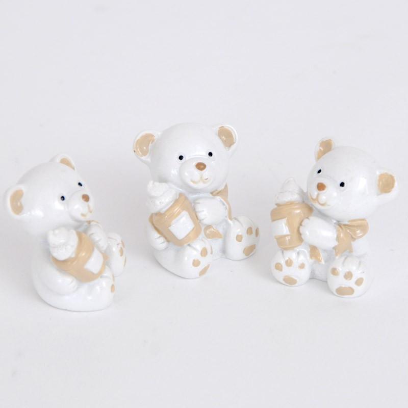 Orsetti in ceramica per decorare bomboniere e confezioni regalo