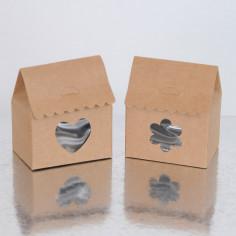 Bomboniera portaconfetti casetta cuore trasparente