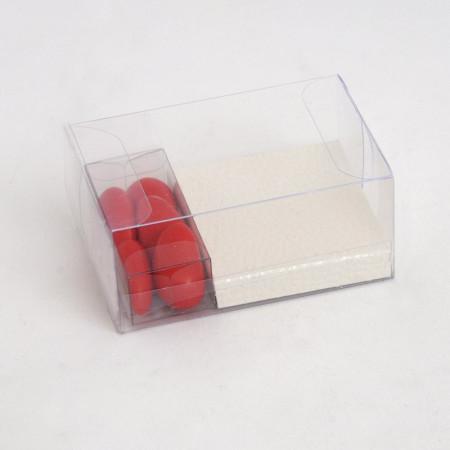 Kit per Bomboniere Trasparente 2 Scatoline+Fondino