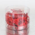 Fiocchetti in raso con adesivo rossi