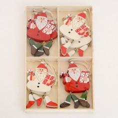Set Babbi Natale Pendagli