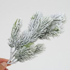 Ramo di pino con neve