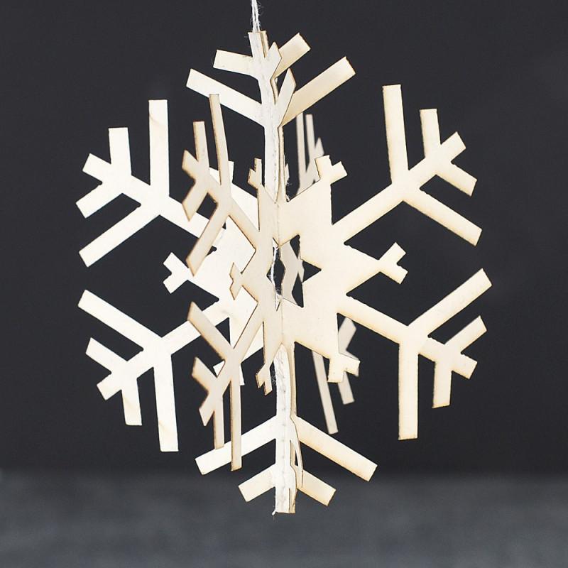 Fiocco di neve in carta da appendere