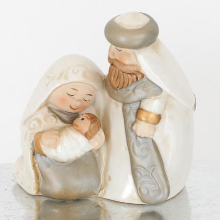Natività in ceramica dipinta