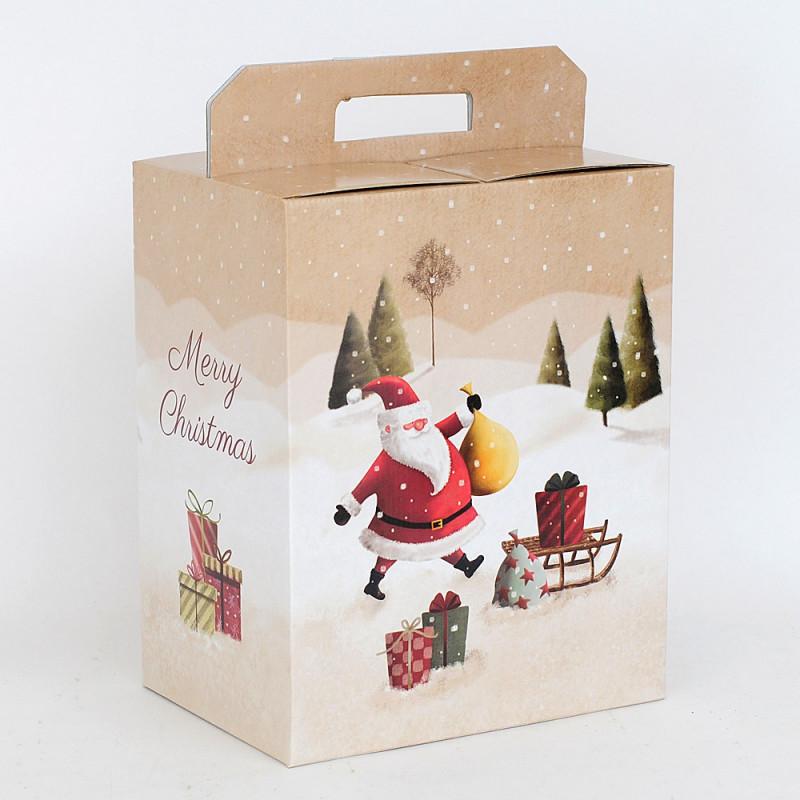 Scatole Pandoro e Bottiglia Santa Claus 280