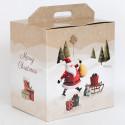 Scatole Pandoro e Bottiglia Santa Claus 330