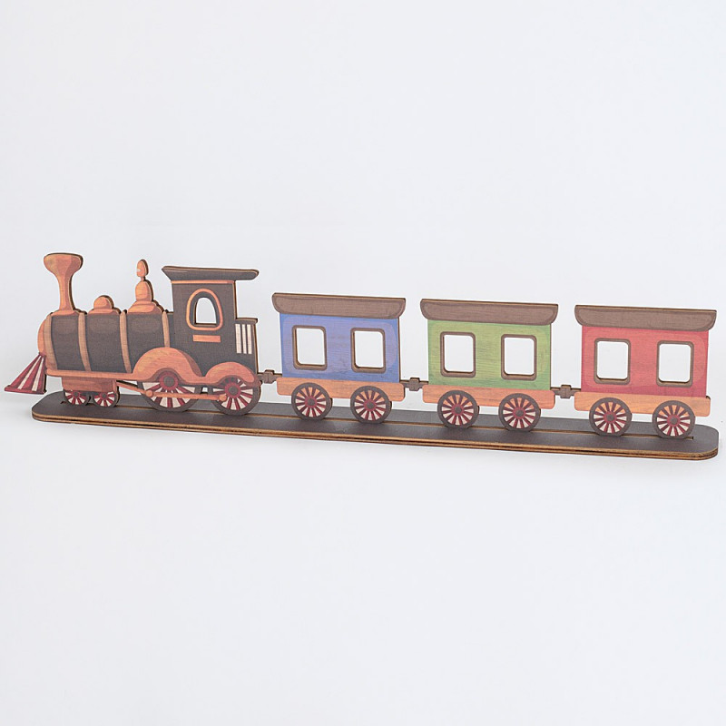 Trenino balocco in legno