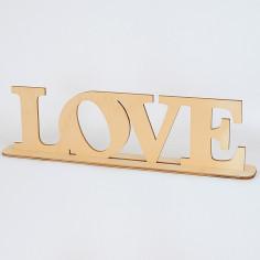 """Scritta in legno """"Love"""""""