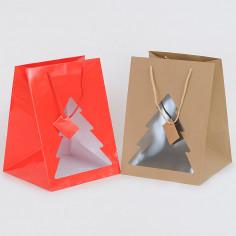 Shopper Portapanettone con Vetrina ad Albero