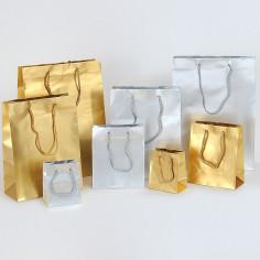 Borsine Deluxe in Carta Plastificata Satinata Argento Oro