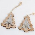Pendagli Albero legno con metallo lavorato
