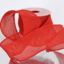 Nastro Fleg in tessuto brillantato rosso
