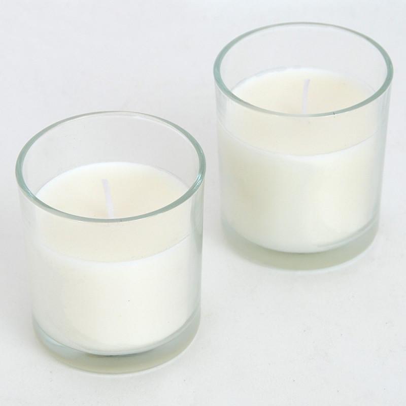 Box di due vasetti candele bianche