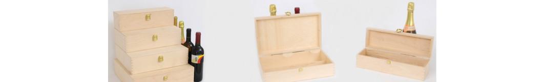 portabottiglie scatole legno