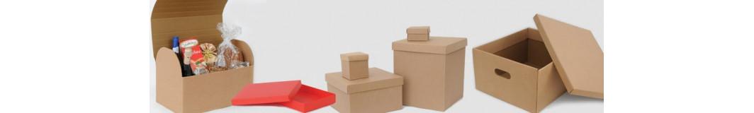 Scatole regalo in cartoncino e plastica per vasetti, bomboniere, armadi