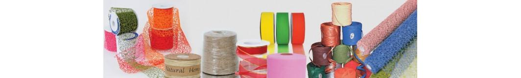 nastri per confezioni regalo, fettucce, cordini, fiocchi