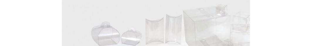 scatole regalo trasparenti portabottiglia, portaconfetti, bomboniere