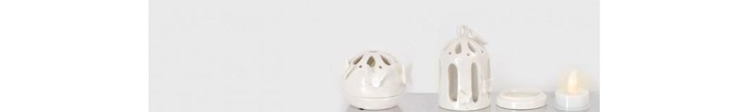 vasetti in ceramica e porcellana, porta tealight, portalumini