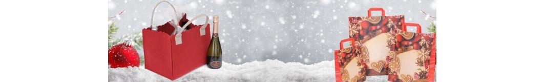 Shopper Natale | Borse Natale: carta, stoffa, plastica