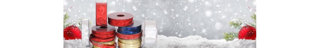 Nastri Natale | Fiocchi Natale: organza, meta, trina, cotone, rafia prezzi convenienti