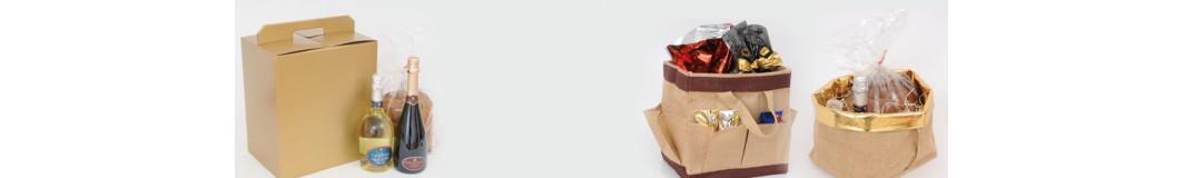 Scatole e borse shopper per confezioni enogastronomiche