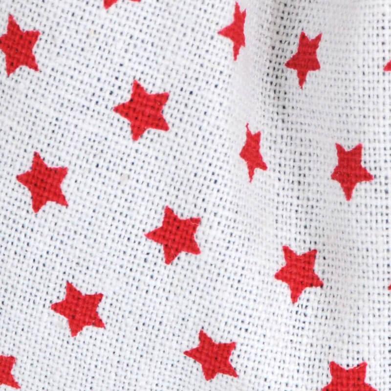 bianco con stelle rosse