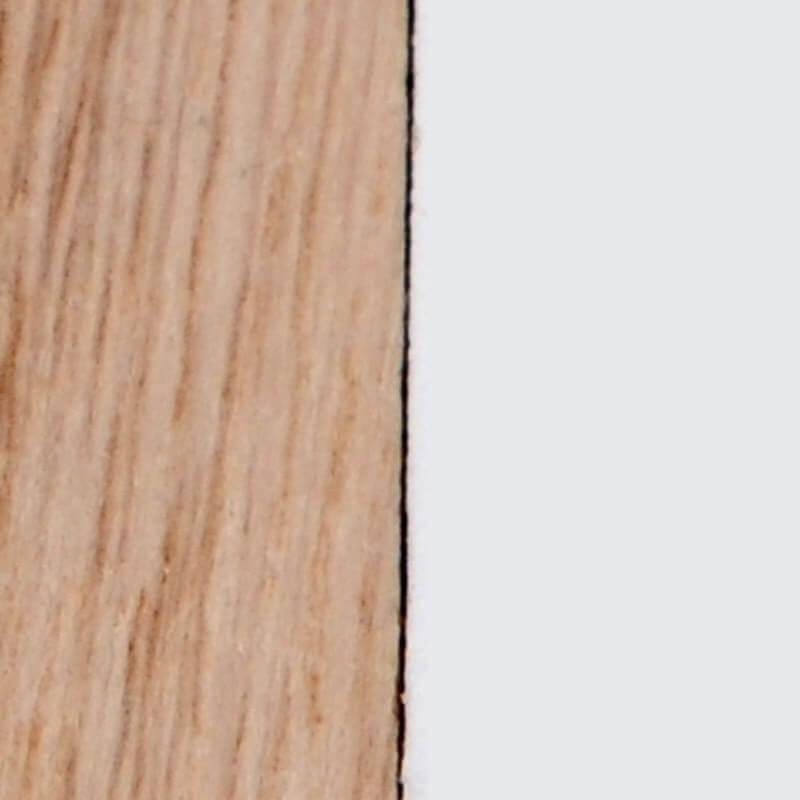 legno naturale/bianco