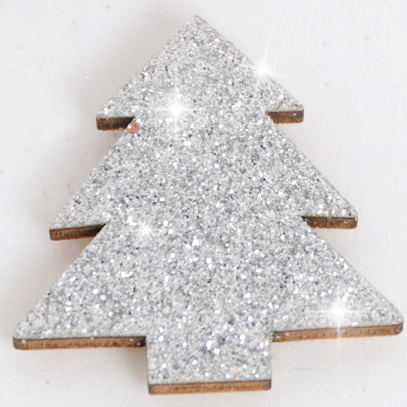glitter pino argento
