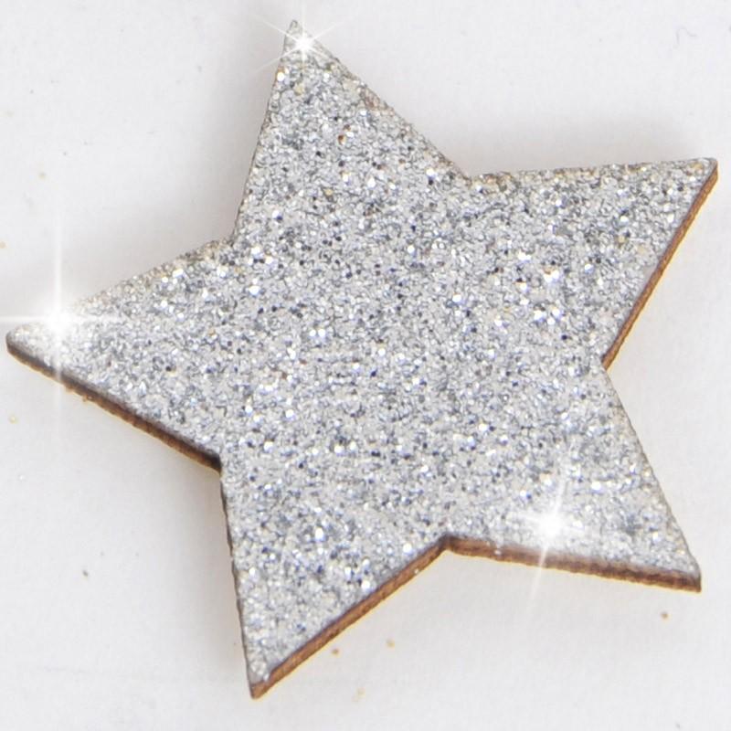 glitter stella argento