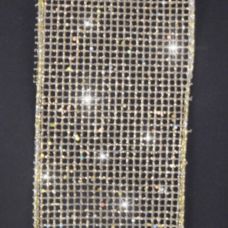 rete glitter oro