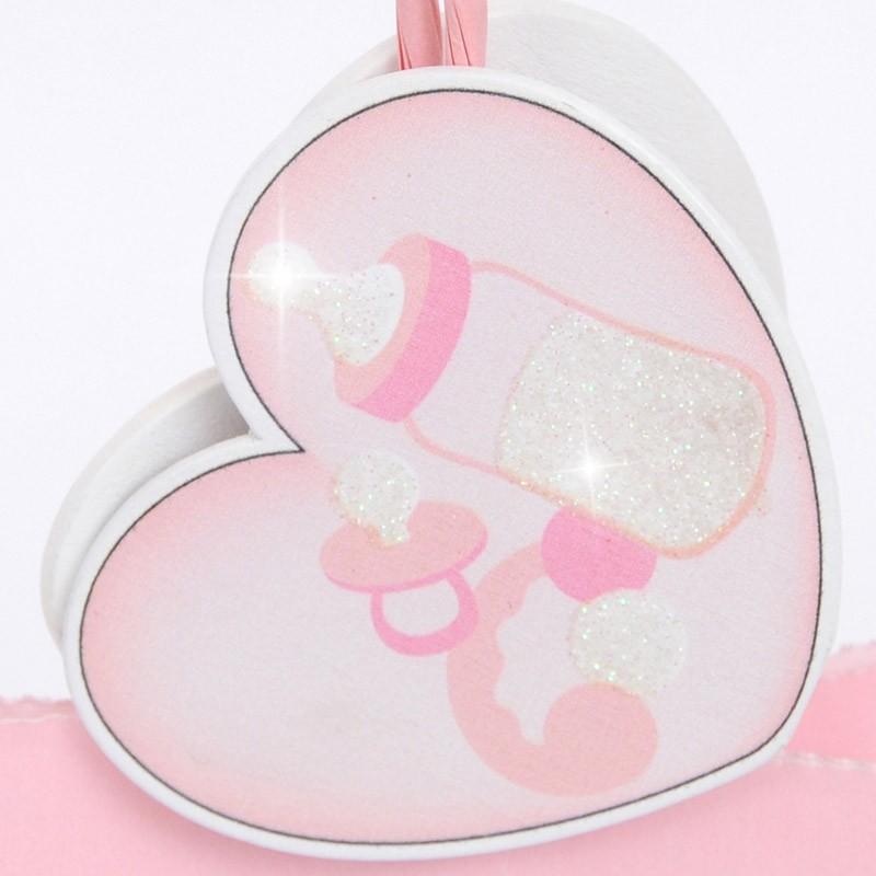 cuore Bimba 6x6 cm double