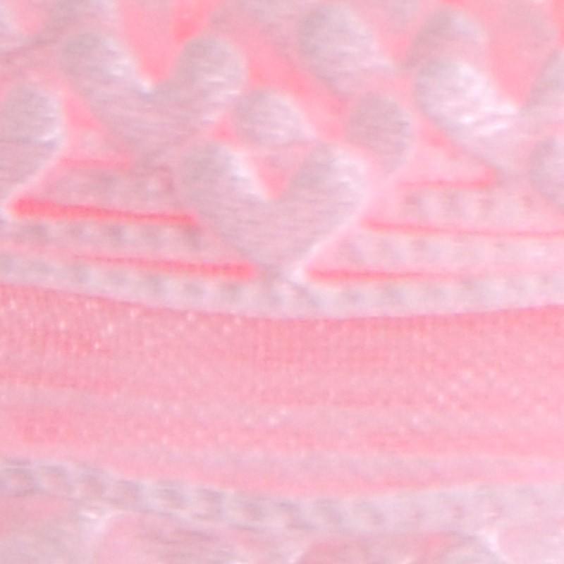 rosa organza cuori