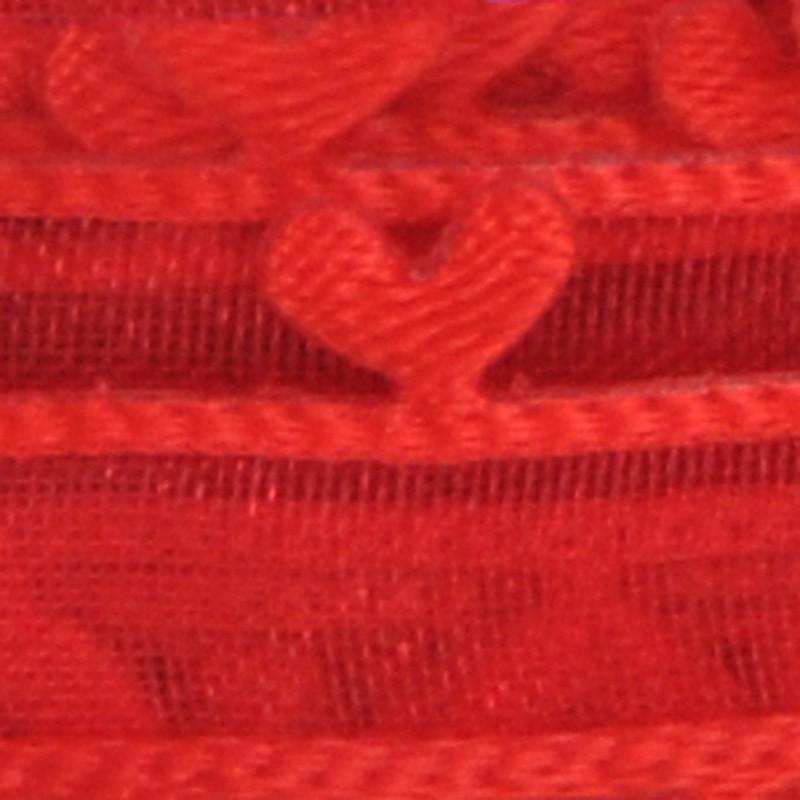 rosso organza cuori