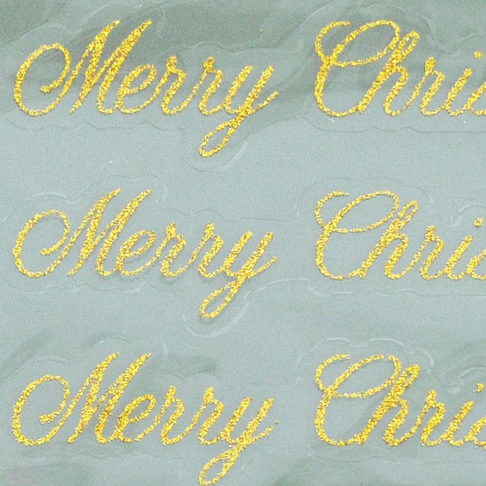 oro Merry Christmas / 9 cm 6 Pz.